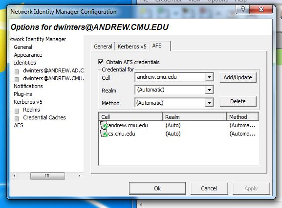 AFS via a mount on the Windows Desktop